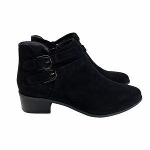 Italian Shoemakers Lilah Faux Suede Black Booties